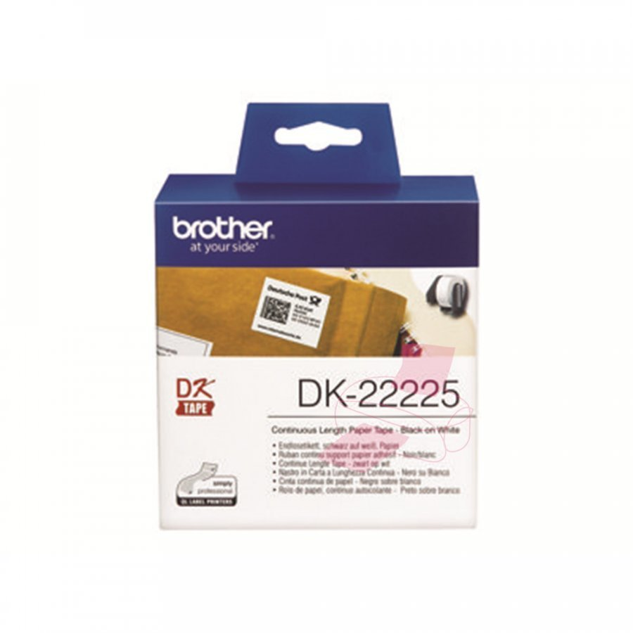 Brother DK22225 Jatkuva Rullatarra