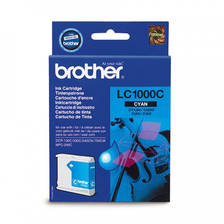Brother LC1000C Cyan Mustepatruuna