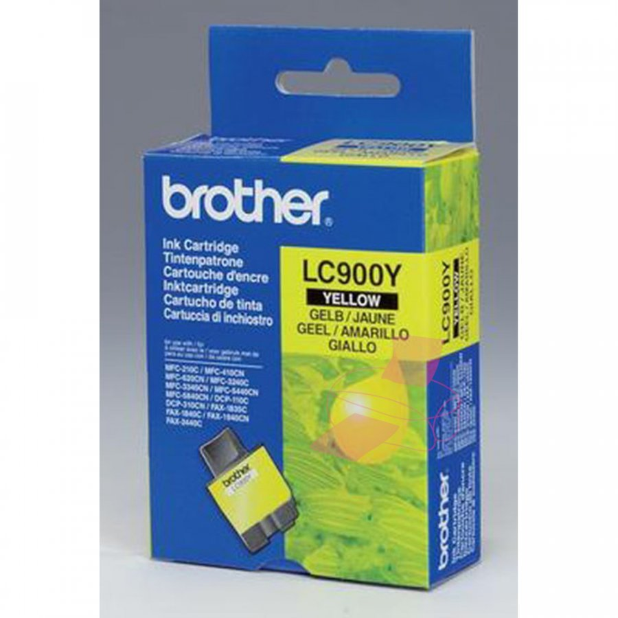 Brother LC900Y Keltainen Mustepatruuna