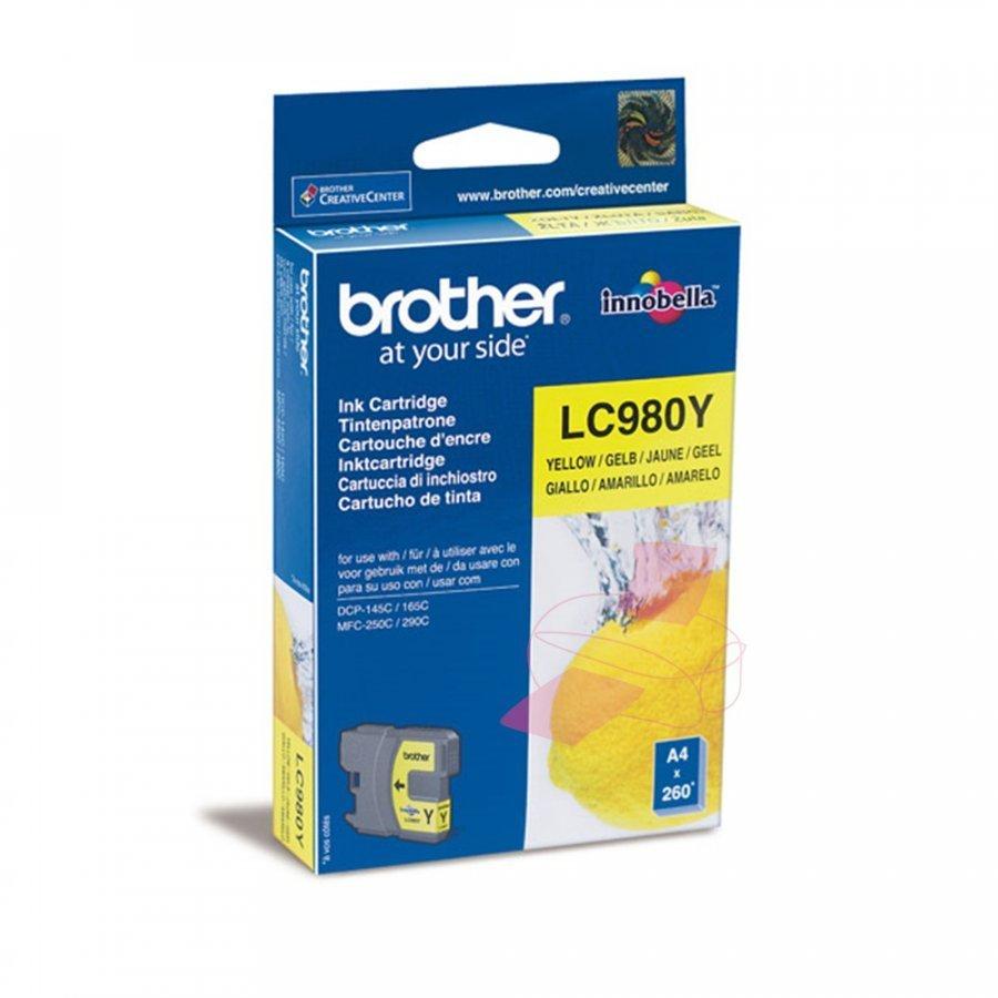 Brother LC980Y Keltainen Mustepatruuna