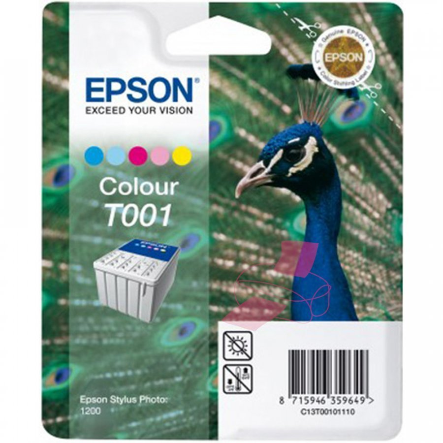Epson T001 Viisivärinen Mustepatruuna