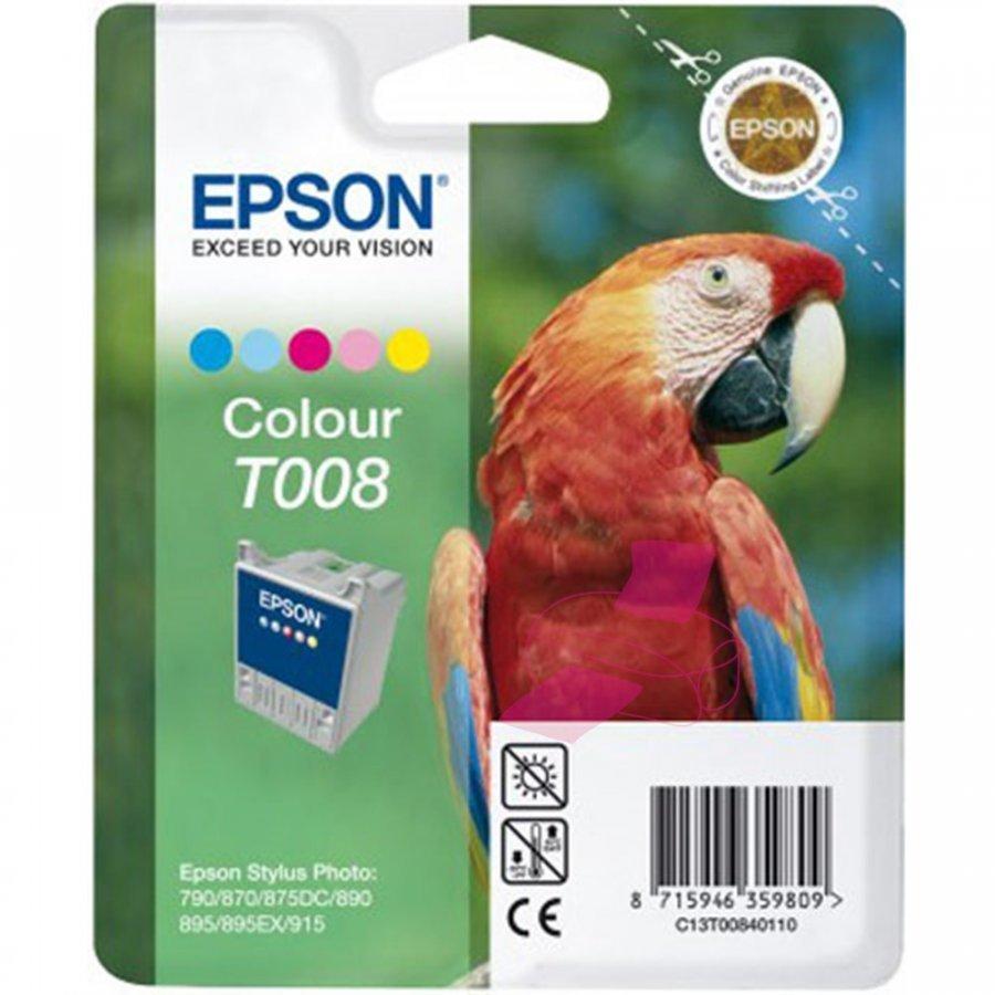 Epson T008 Viisivärinen Mustepatruuna