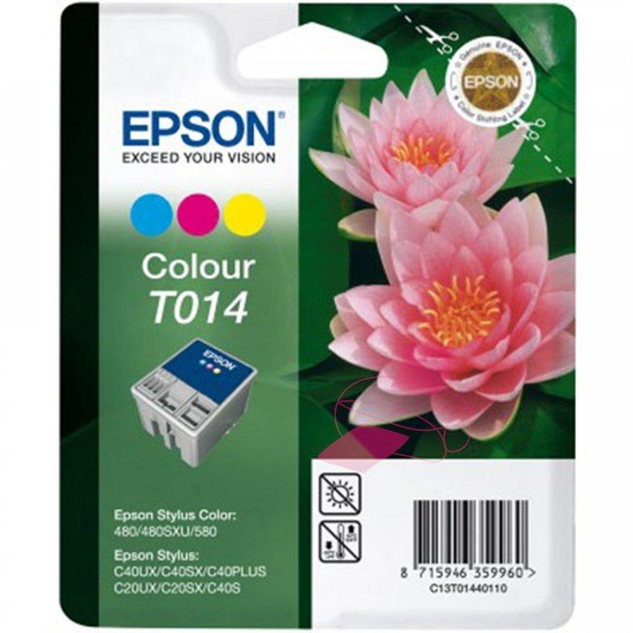 Epson T014 Kolmevärinen Mustepatruuna