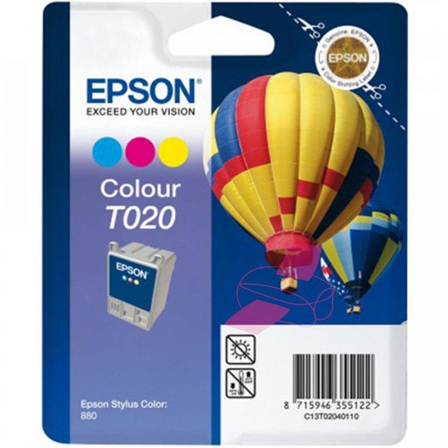 Epson T020 Kolmevärinen Mustepatruuna