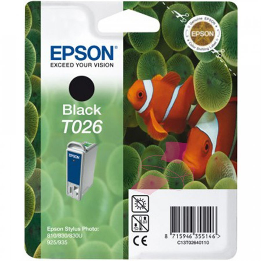 Epson T026 Musta Mustepatruuna