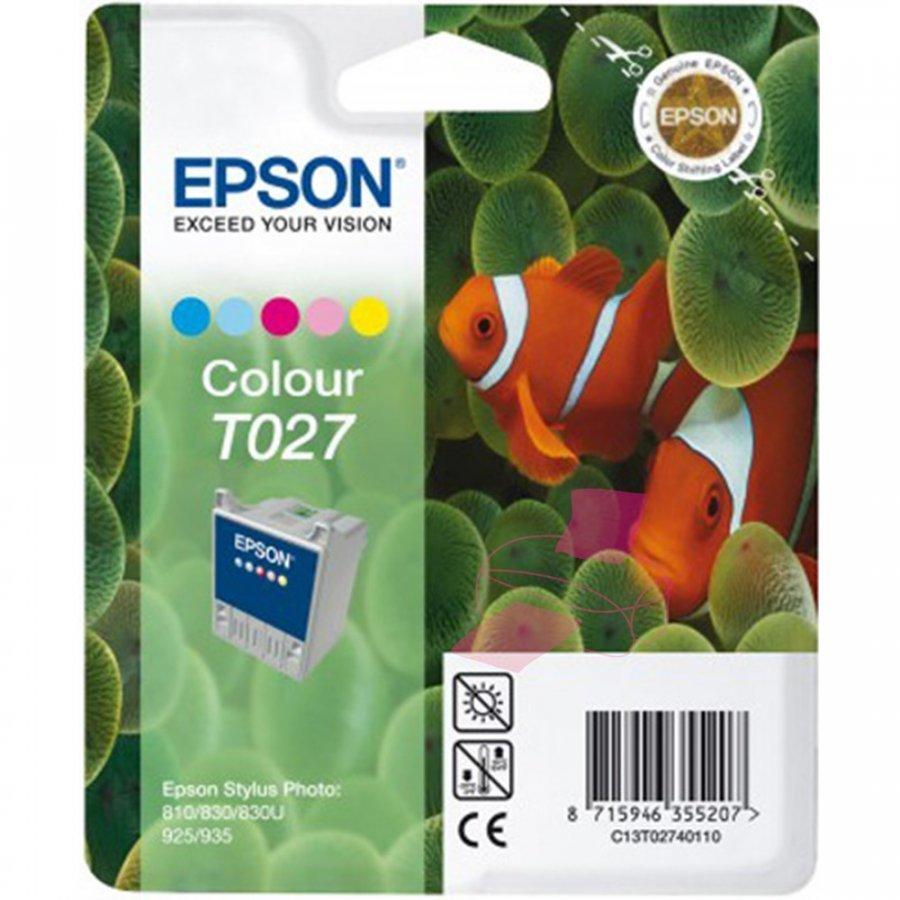 Epson T027 Viisivärinen Mustepatruuna