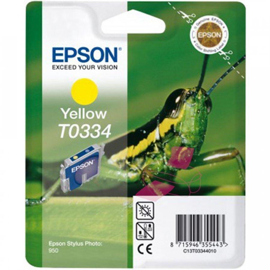 Epson T0334 Keltainen Mustepatruuna
