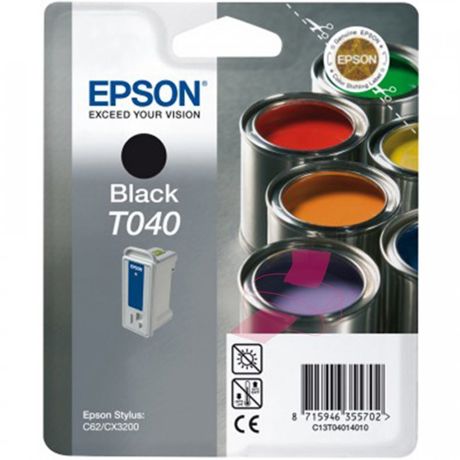 Epson T040 Musta Mustepatruuna