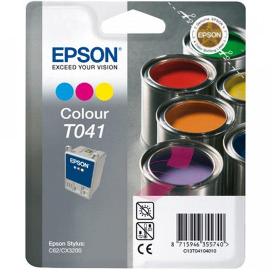 Epson T041 Kolmevärinen Mustepatruuna