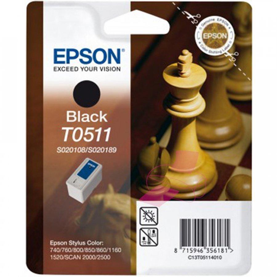 Epson T0511 Musta Mustepatruuna