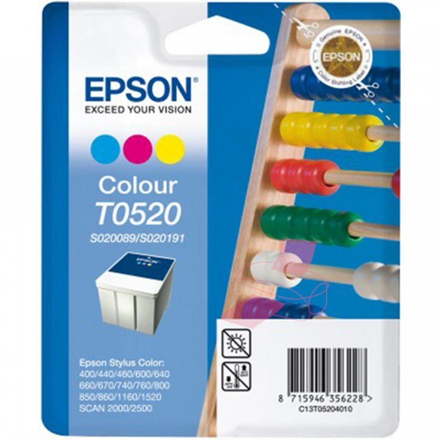 Epson T052 Kolmevärinen Mustepatruuna