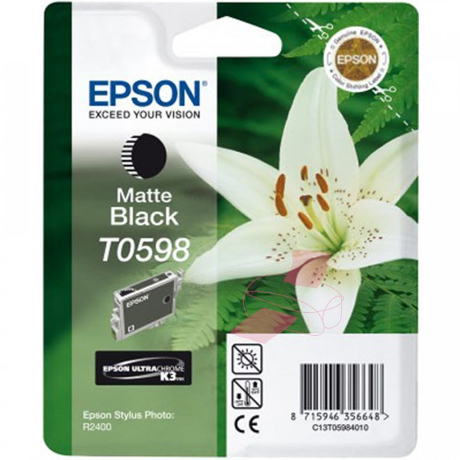 Epson T0598 Matta Musta Mustepatruuna