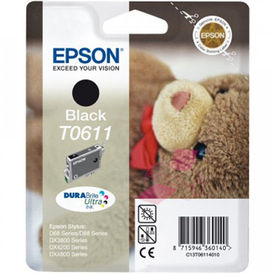 Epson T0611 Musta Mustepatruuna