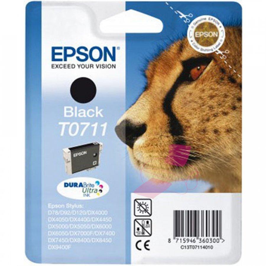 Epson T0711 Musta Mustepatruuna