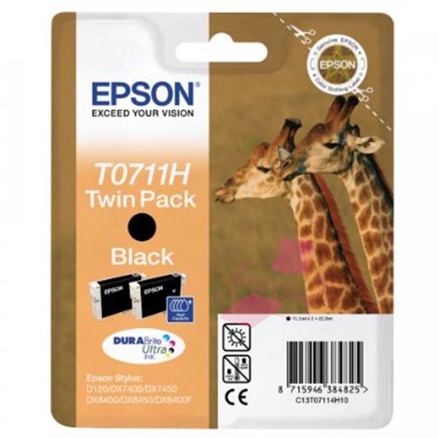 Epson T0711H Musta Mustepatruuna