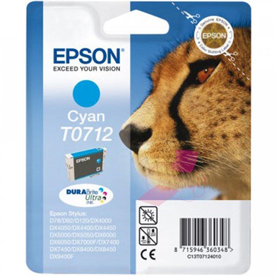 Epson T0712 Cyan Mustepatruuna