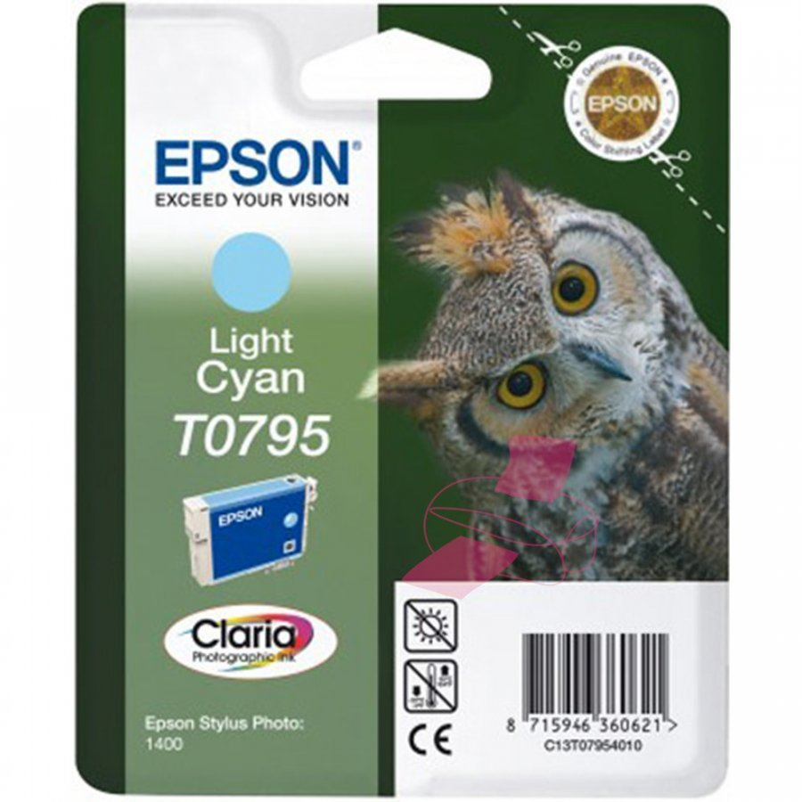 Epson T0795 Light Cyan Mustepatruuna