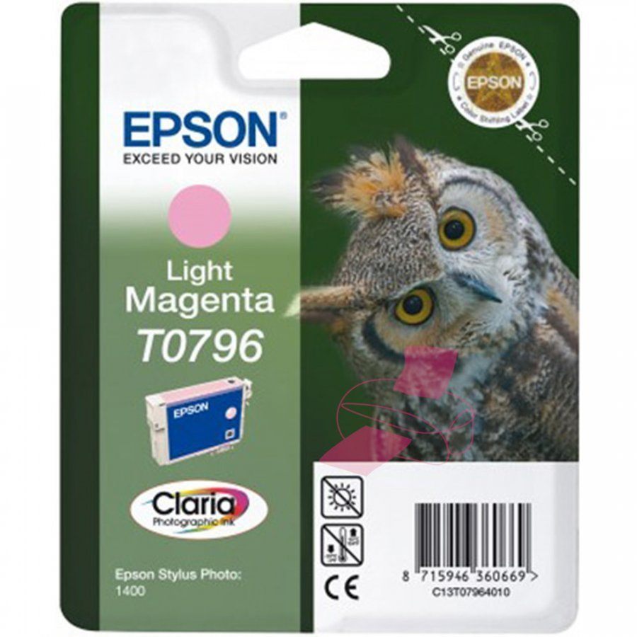 Epson T0796 Light Magenta Mustepatruuna