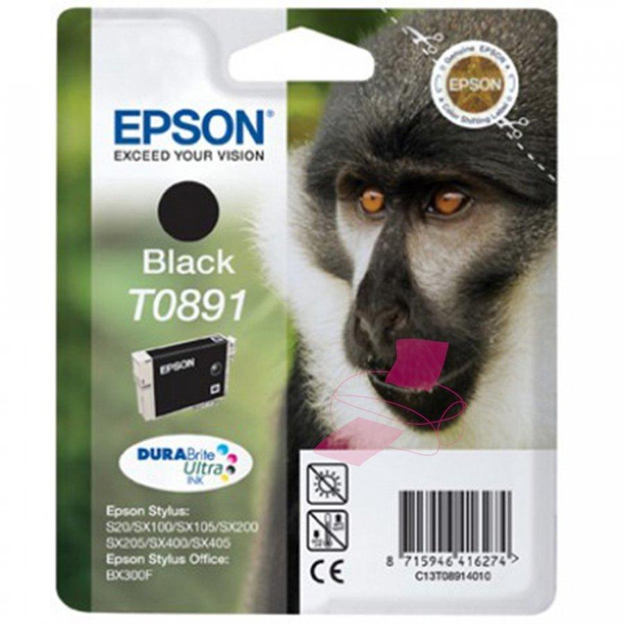 Epson T0891 Musta Mustepatruuna