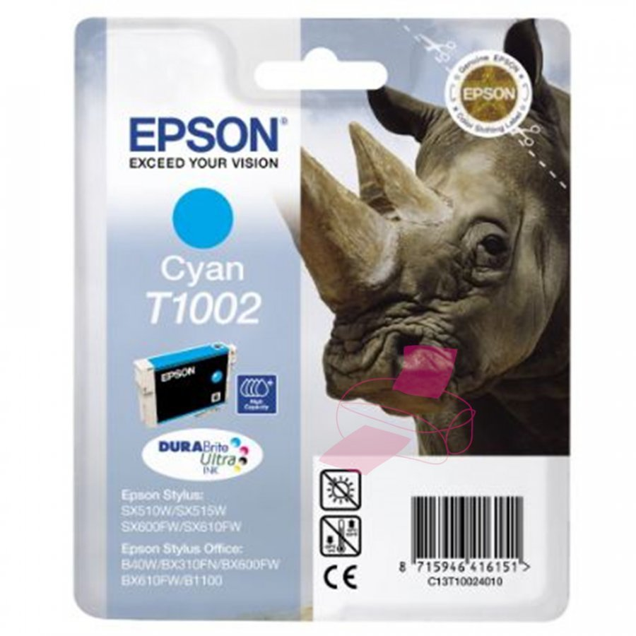 Epson T1002 Cyan Mustepatruuna