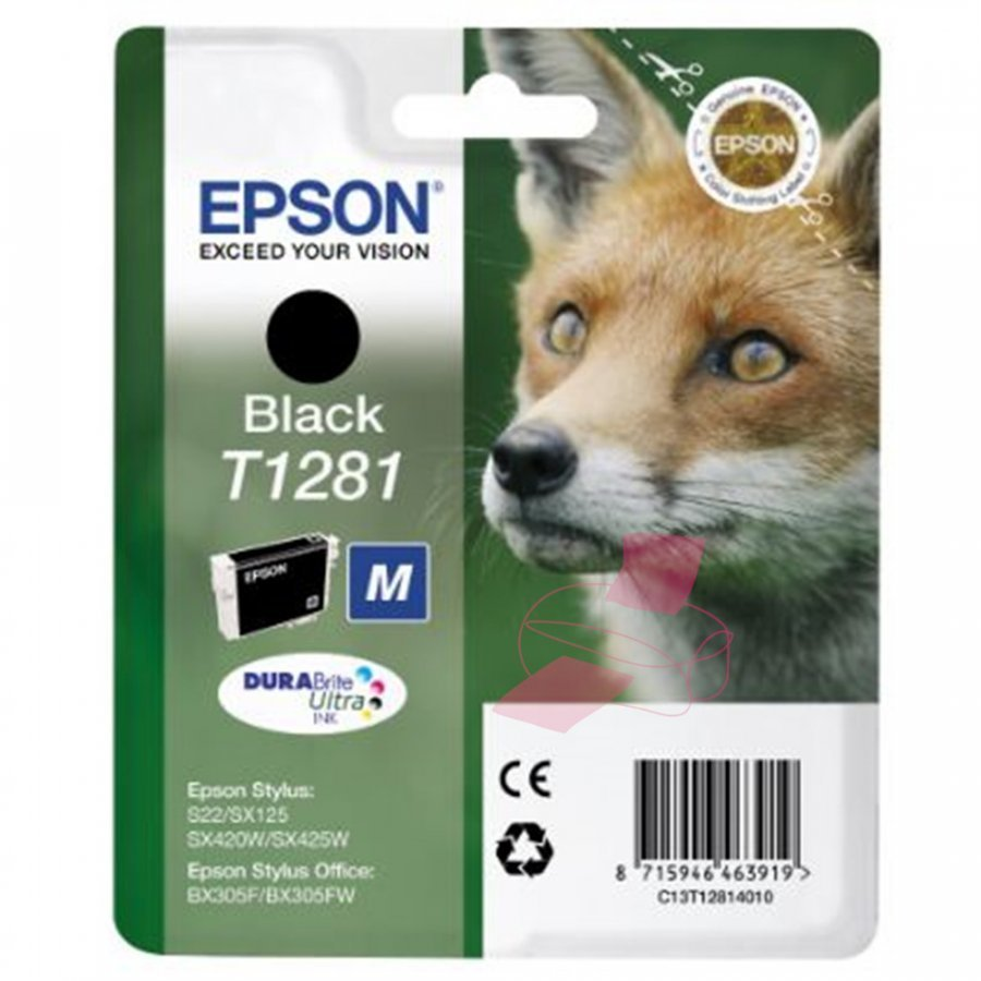 Epson T1281 Musta Mustepatruuna