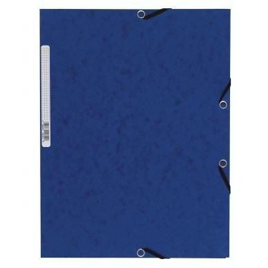 Gummibandsmapp Kartong A4 Blå 3-Klaff 10 St