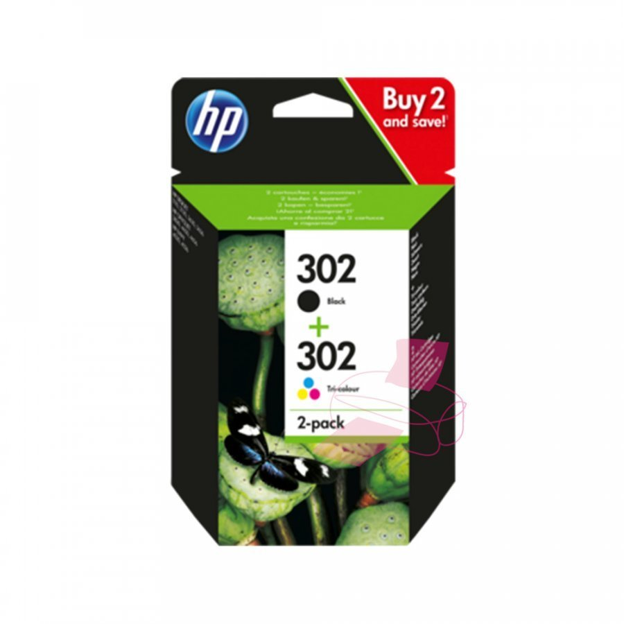 Hp X4D37AE Multipakkaus Hp 302 F6u65ae Ja F6u66ae