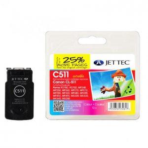 Jet Tec Canon Cl-511 Väri Mustekasetti