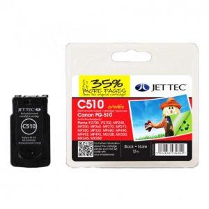 Jet Tec Canon Pg-510 Musta Mustekasetti