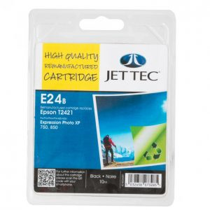 Jet Tec Epson E24b Musta Mustekasetti