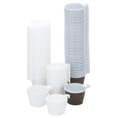 Kahvikuppi 21 Cl Muovi Ruskea/Valkoinen 50 kpl