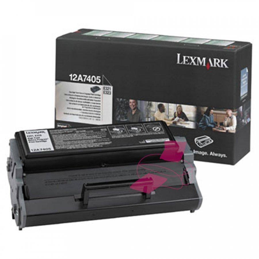 Lexmark 0012A7405 Musta Värikasetti