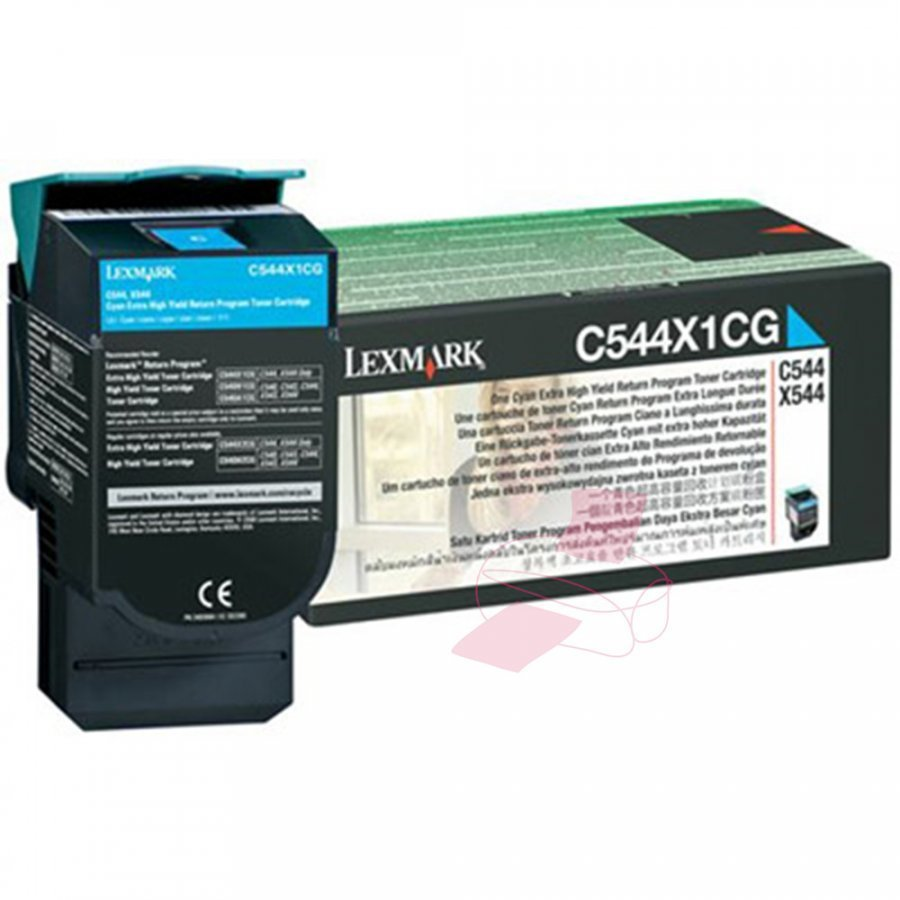 Lexmark 0C544X1CG Cyan Värikasetti
