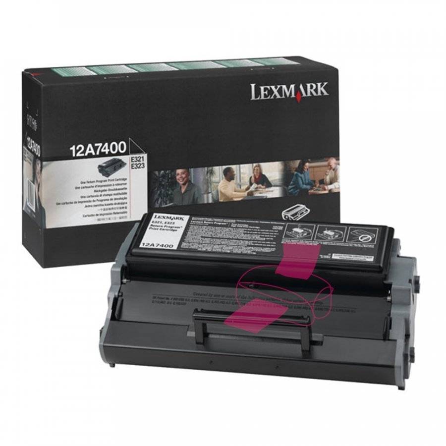 Lexmark 12A7400 Musta Värikasetti