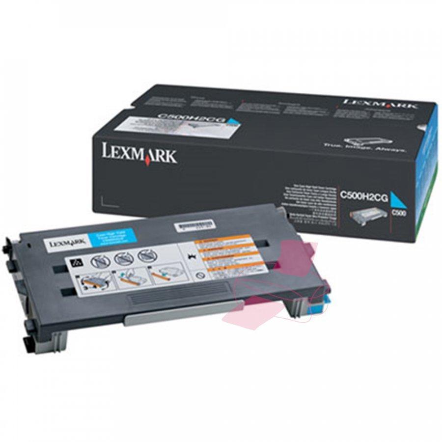 Lexmark C500H2CG Cyan Värikasetti