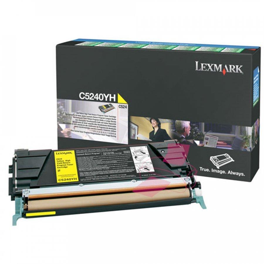 Lexmark C5240YH Keltainen Värikasetti