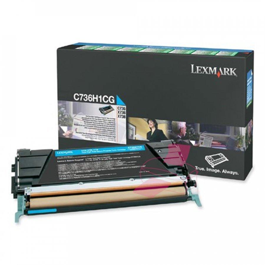 Lexmark C736H1CG Cyan Värikasetti