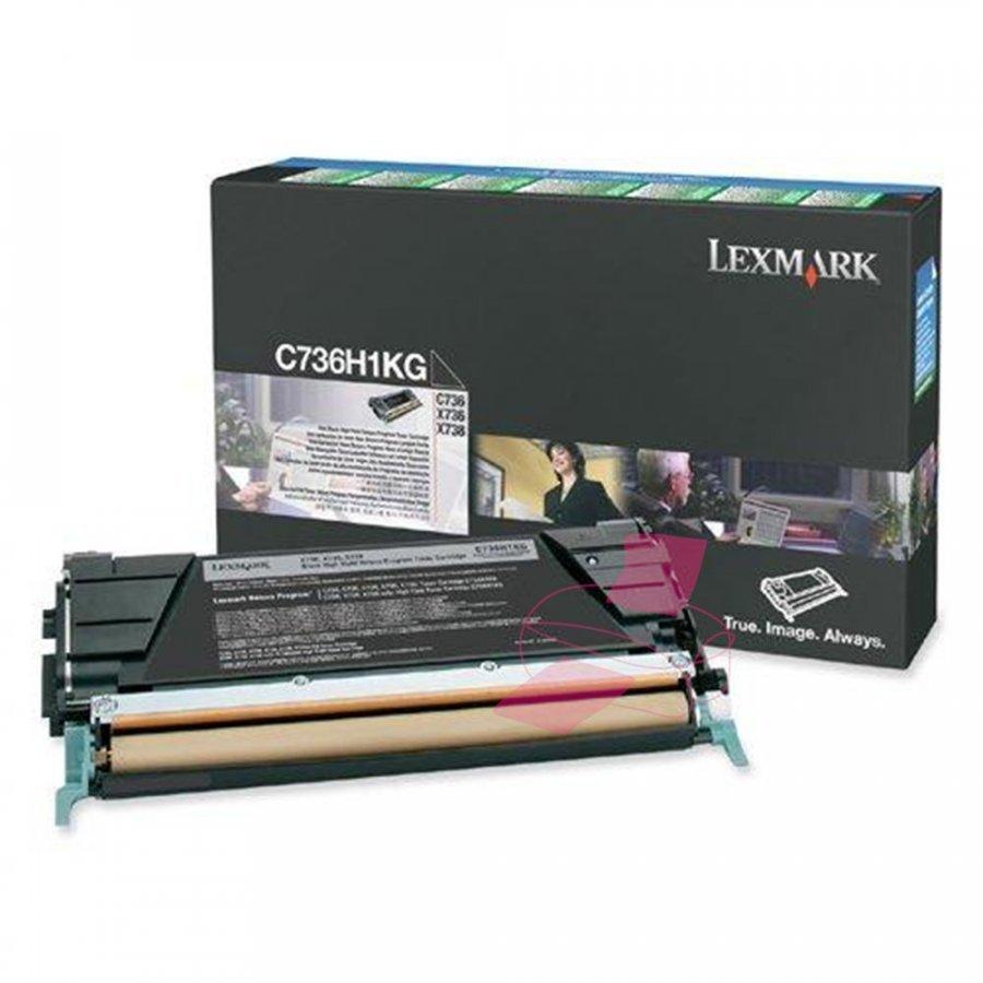 Lexmark C736H1KG Musta Värikasetti