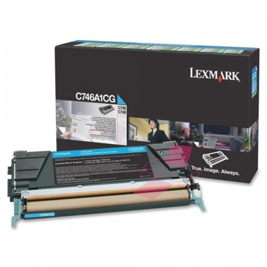 Lexmark C746A1CG Cyan Värikasetti