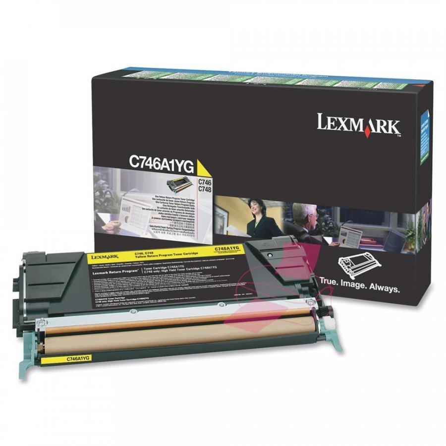 Lexmark C746A1YG Keltainen Värikasetti