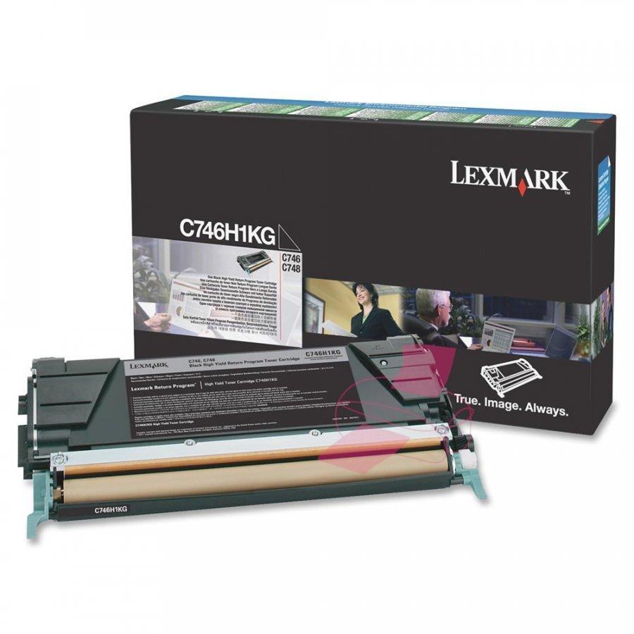 Lexmark C746H1KG Musta Värikasetti