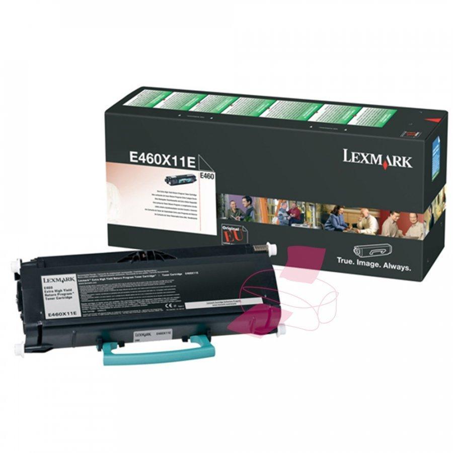 Lexmark E460X11E Musta Värikasetti