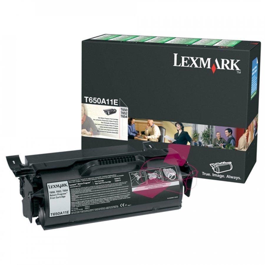 Lexmark T650A11E Musta Värikasetti