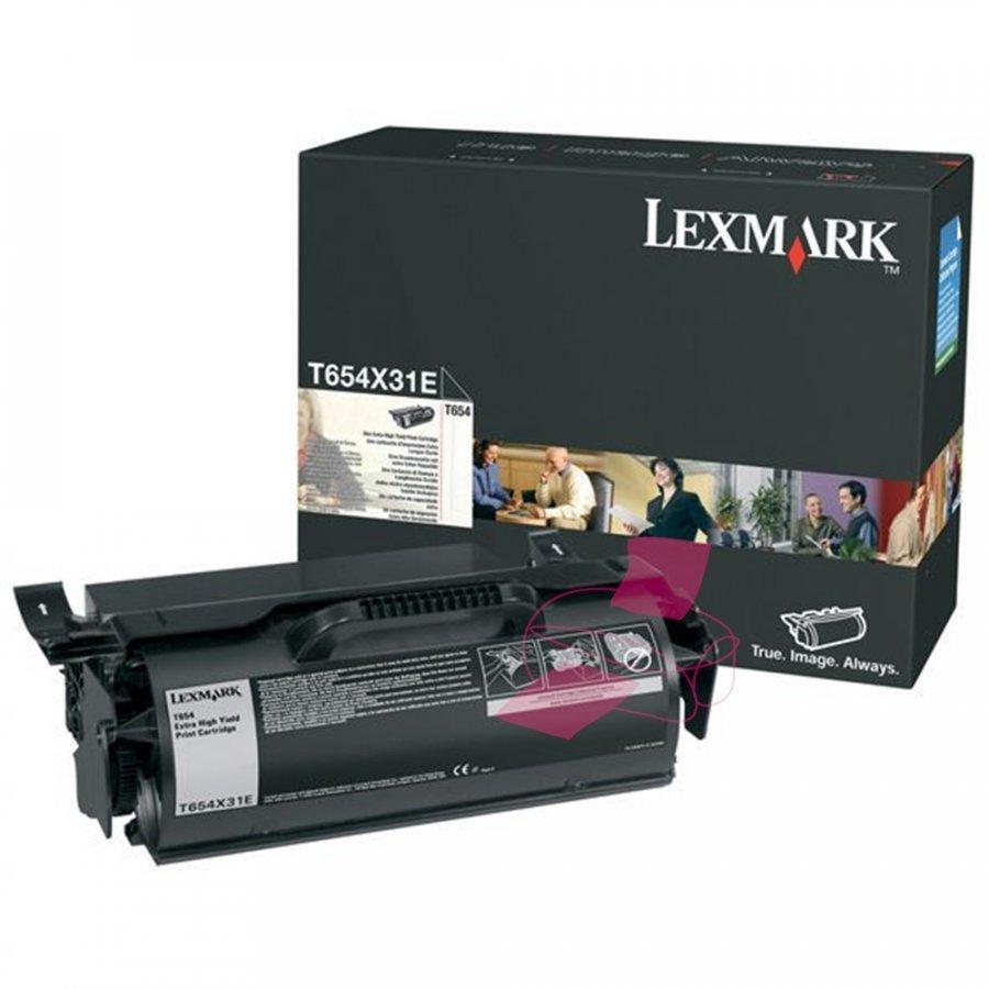 Lexmark T654X31E Musta Värikasetti