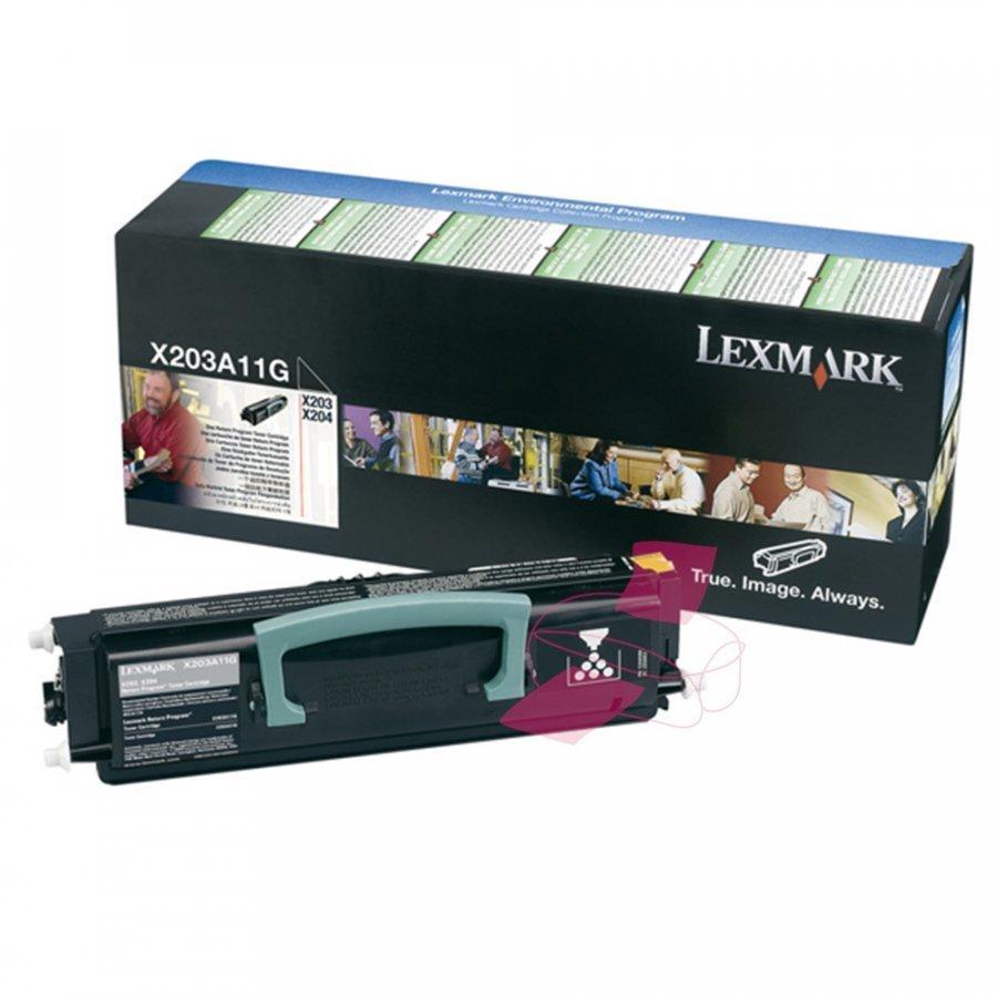 Lexmark X203A11G Musta Värikasetti