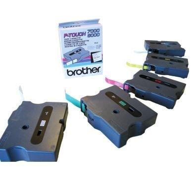 Merkkausnauha Brother Tx231 12mm Musta Valkoisella Pohjalla