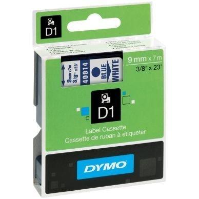 Merkkausnauha Dymo D1 9mm Sininen Valkoisella Pohjalla