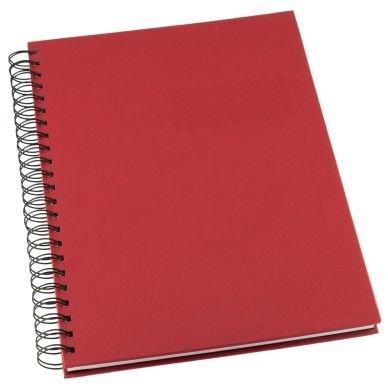 Muistikirja Grieg Design Spiraali A5 Viivoitettu Punainen