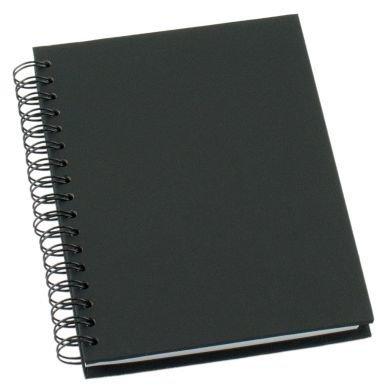Muistikirja Grieg Design Spiraali A6 Viivoitettu Musta