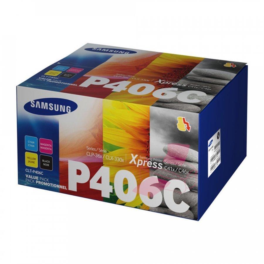 Samsung CLT-P406C Neljän Värin Kasettisarja